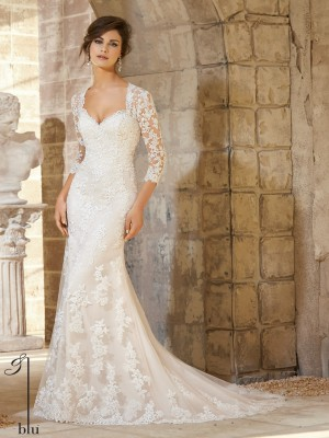 Mori Lee Blue 5372